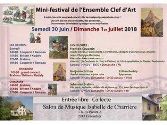 Musique : Mini-festival de l'ensemble Clef d'Art
