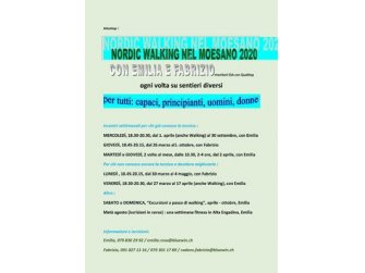 Nordic Walking nel Moesano 2020