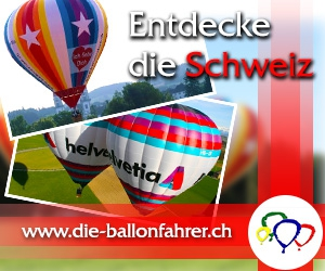 Ballonfahrt über die Schweiz