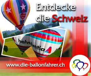 Ballonfahrt über die Schweiz